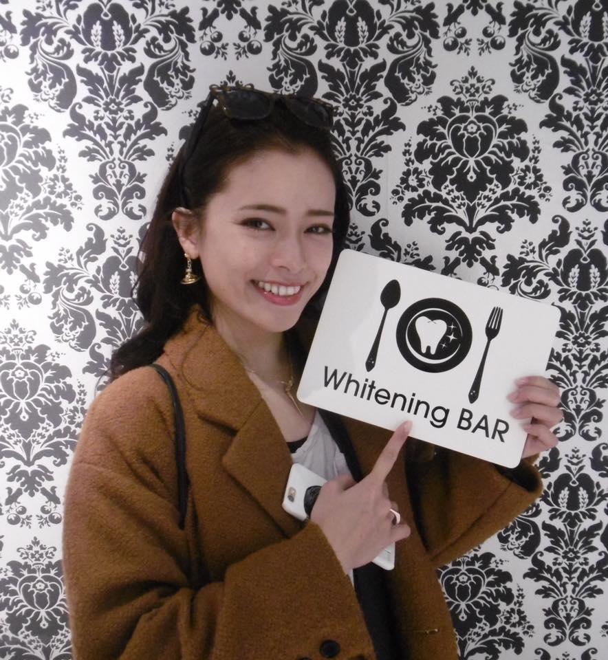 尾崎紗代子,ホワイトニングバー,ホワイトニング,セルフホワイトニング