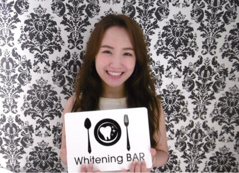 モデル,中野英菜,ホワイトニング,セルフホワイトニング,ホワイトニングバー