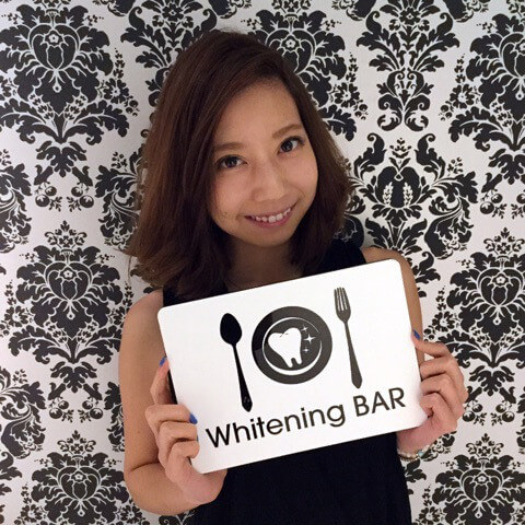 ホワイトニング,歯のホワイトニング,ホワイトニングバーモデル,山田優衣,たばこのヤニ