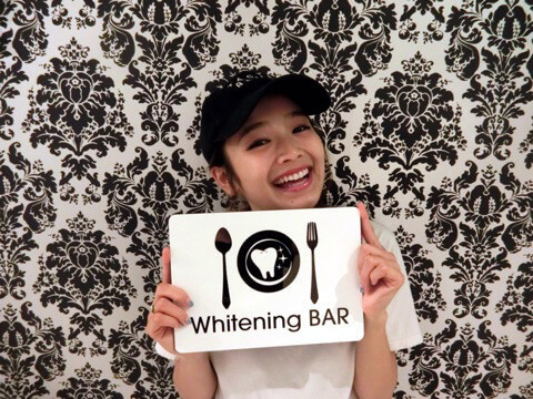mirei,変顔モデル,ホワイトニングバー,歯のホワイトニング
