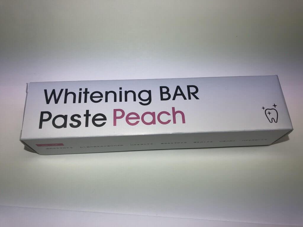 ホワイトニング用歯磨き粉,'WhiteningBAR Paste Peach'