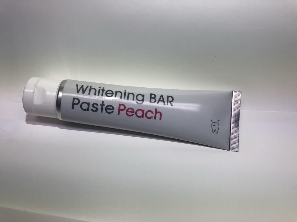 新感覚歯磨き粉,ホワイトニング用歯磨き粉,WhiteningBAR Paste Peach,