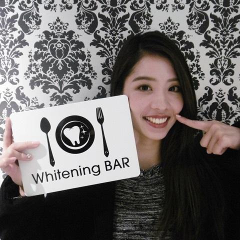 浦田麻緖さんがホワイトニングバーにご来店