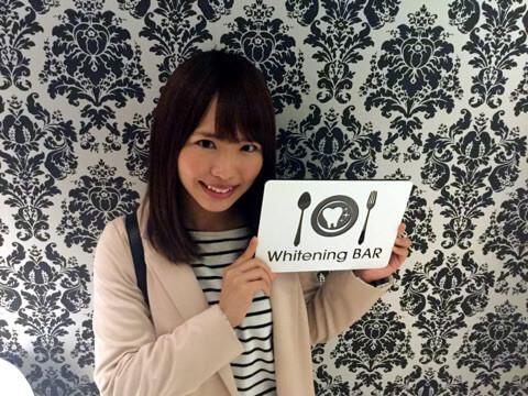 SKE48松村香織さんご来店|歯のホワイトニング専門店ホワイトニングバー