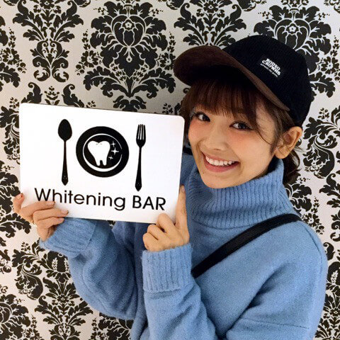 顔芸モデルのmireiさんがご来店|歯のホワイトニング専門店ホワイトニングバー