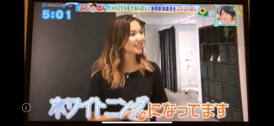 ホワイトニングバー静岡店TV取材スタッフ説明