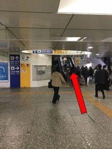 JR横浜駅からホワイトニングバー横浜ビブレ店までの案内8